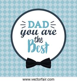you are the best dad greeting festive card