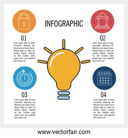 Business and education infographic
