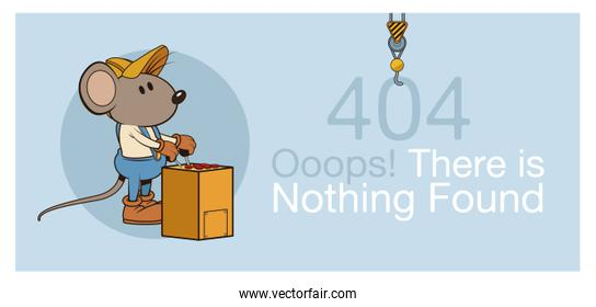 error 404 with funny mouses banner