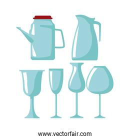Glass cups icons