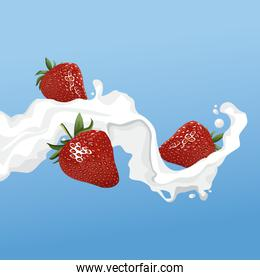 Milk and strawberry flyer