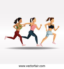 People running fitness lifestyle