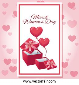 Womens day pink card