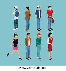 Isometric people 3d
