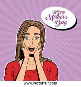 woman girl art pop comic retro female pretty