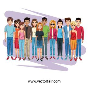Young people cartoon