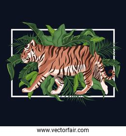 Tiger drawing in the jungle