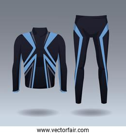 Fitness men jacket and pants