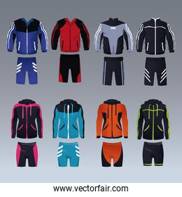 Set of sport wear for male and female