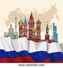 Russia travel poster