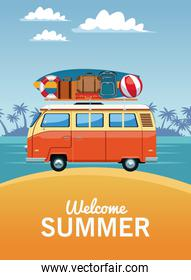 Welcome summer card