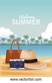 Welcome summer concept