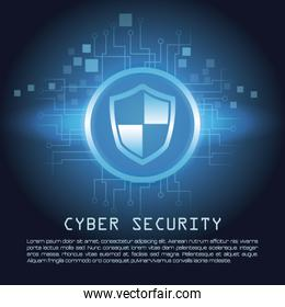 Cyber security banner concept