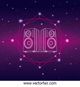 Music and technology concept