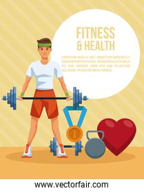 Fitness and health concept