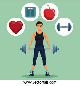 Fitness man cartoon