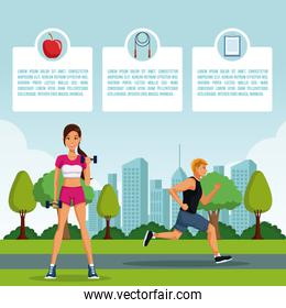 Fitness people infographic