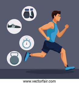 Fitness man running
