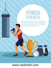 Fitness and health infographic