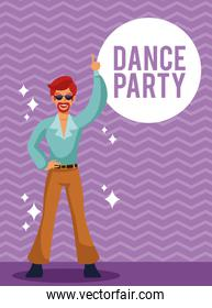 Dance party card