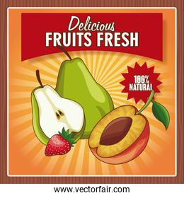 Delicious fruits fresh poster