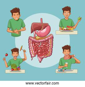 Digestive system cartoon