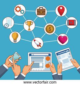 Social network and media technology