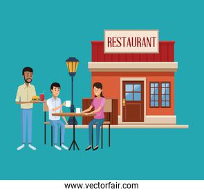 Restaurant building scenery