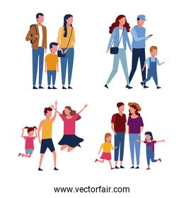 Set of familly avatar