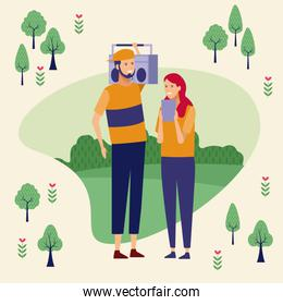 Couple at park