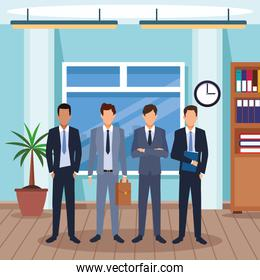 executive men cartoon