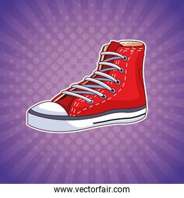 Fashion shoe pop art cartoon