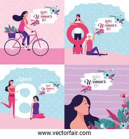 Happy women day card