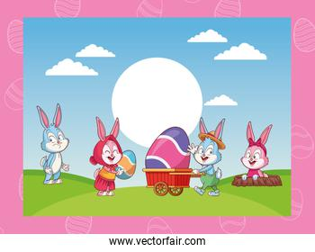happy easter cartoons