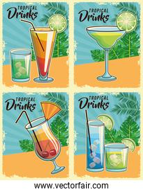 tropical cocktails poster