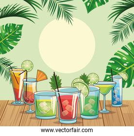 tropical cocktail drinks