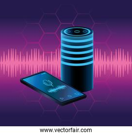 Smartphone voice recognition speaker