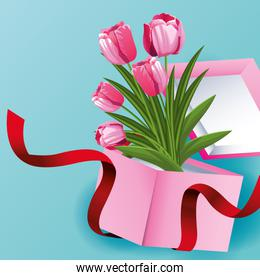beautiful flowers card