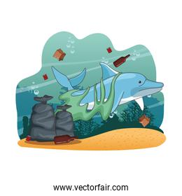 Sea cleaning cartoons