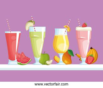 smoothies with fruit