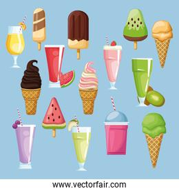 ice cream smoothies and ice lolly