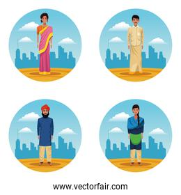 indian women and men indian people