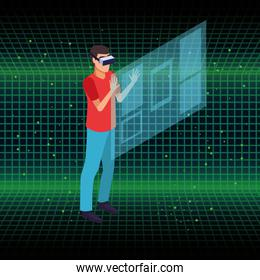 Virtual reality and friends cartoons