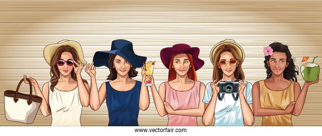 fashion models cartoons