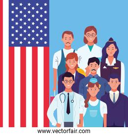 Professional workers labor day cartoons