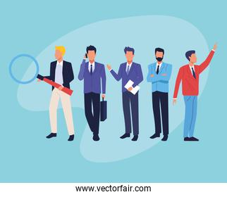 Executive business workers characters avatars