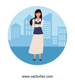 Executive businesswoman in the city