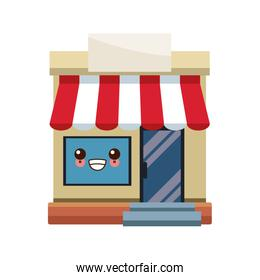 kawaii storefront building shop facade front view