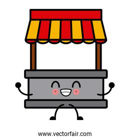 kawaii empty stand stall template store and marketing