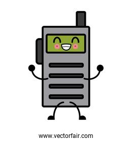 kawaii walkie talkie communication radio cartoon